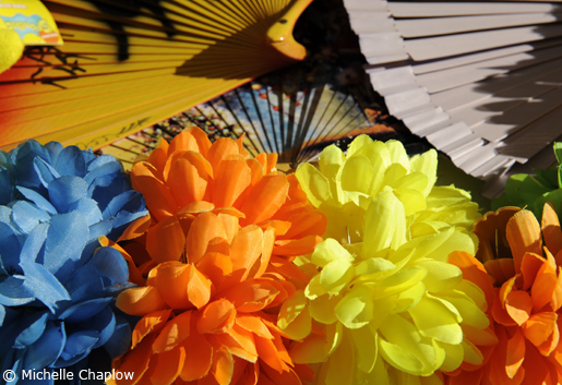Flowers and fans are a must at Malaga Feria. © Michelle Chaplow