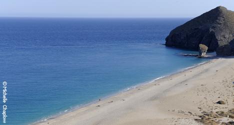 Mundialmente famosa playa naturista en el resort de Vera Playa © Michelle Chaplow