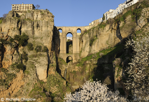'Puente Nuevo' spanning the gorge in Ronda. © Michelle Chaplow