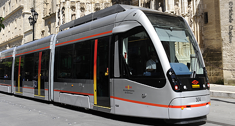 © Michelle Chaplow The brand new Seville trams