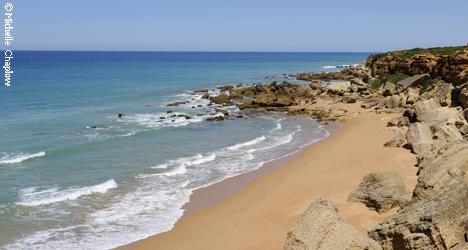 © Michelle Chaplow Golden sands and seculded coves of Roche, Costa de La Luz.