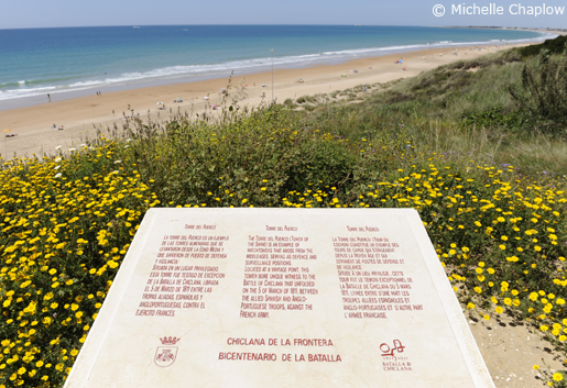 The beautiful beaches of Chiclana de la Frontera. © Michelle Chaplow