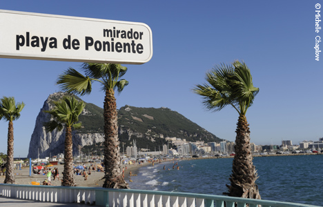 © Michelle Chaplow 'La Línea' (meaning 'boundary line' in Spanish), is often referred to as 'The Gateway to Gibraltar'