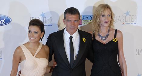 © Chris Chaplow Eva Longoria, Antonio Banderas and Melanie Griffith