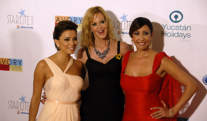 © Michelle Chaplow Eva Longoria, Melanie Griffith and Maria Bravo