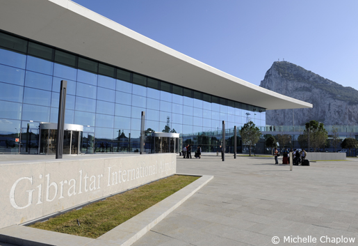 New Airport terminal and the Rock of Gibraltar ©Michelle Chaplow