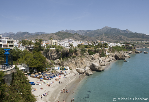 View of Playa Calahonda from the Balcon de Europa. © Michelle Chaplow