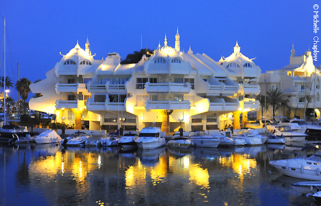 Benalmadena Marina has a very popular nightlife scene ©Michelle Chaplow