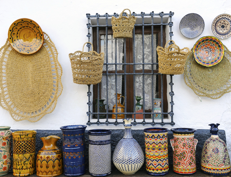 Pottery from Jaen ©Michelle Chaplow