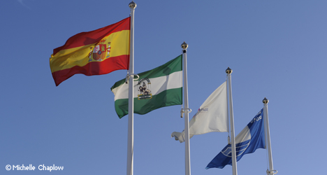 © Michelle Chaplow Many Marinas in Andalucia are proud to fly the Blue beach flag