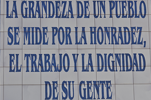 Poetic words in the village of Puerto Serrano. © Michelle Chaplow