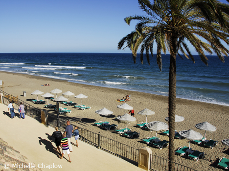 © Michelle Chaplow Playa Fontanilla is the closest beach to Marbella town centre.