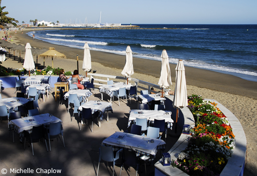 Dine on the waterfront in Marbella. © Michelle Chaplow
