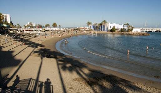 © Michelle Chaplow Playa El Faro is a small, busy beach to the west of Marbella Port