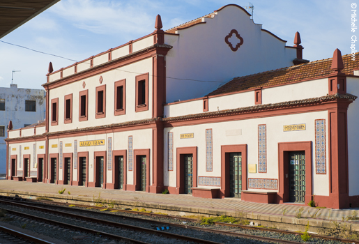 The 1890 Henderson building at Algeciras railway station, larger than the other station buildings on the line © Michelle Chaplow .