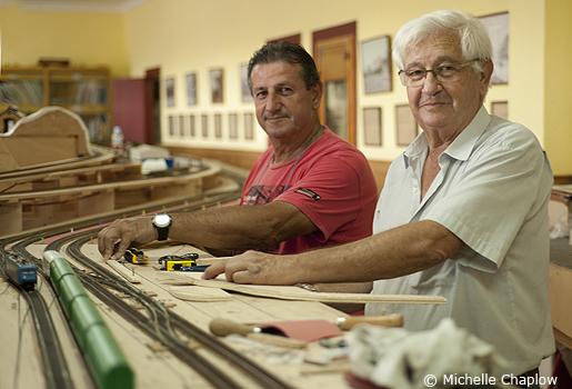 Jorge Rodriguez & José Roballo of the Asociacion de Amigos del Ferrocaril de Algeciras   © Michelle Chaplow .