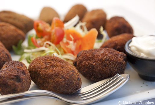Home made croquettes  © Michelle Chaplow .