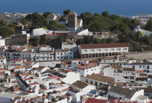 Mijas Village, with a backdrop to the Mediterranean ©Michelle Chaplow