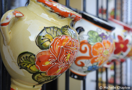 Mijas Pueblo is great for Souvenir shopping © Michelle Chaplow .
