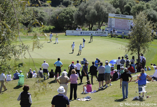 Sun-drenched 18 hole course at La Reserva de Sotogrande. © Michelle Chaplow