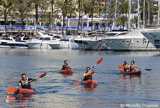 Kayaking is an all year round sport in Andalucia. © Michelle Chaplow