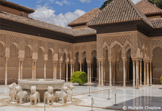 Patio de los Leones is a highlight of any visit to the Alhmabra  © Michelle Chaplow .