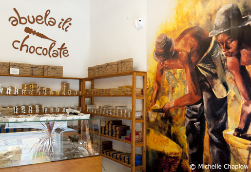 A whole shop dedicated to delicious chocolate. © Sophie Carefull