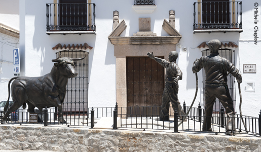 A monument to local traditions in Grazalema. © Michelle Chaplow