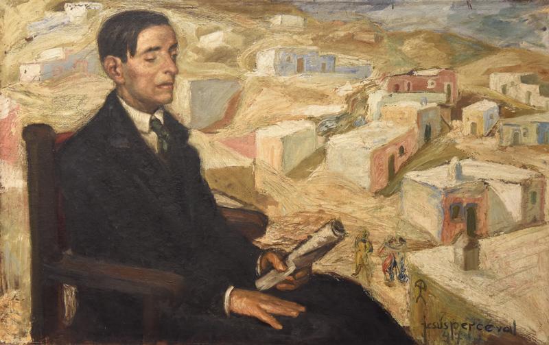 The poet Villaespesa by Jesus de Percival. Oil on canvas 1947 ©