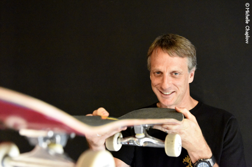 An interview with Tony Hawk © Michelle Chaplow .