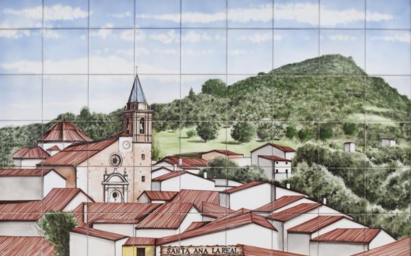 Painted tiles - Santa Ana la real ©Michelle Chaplow