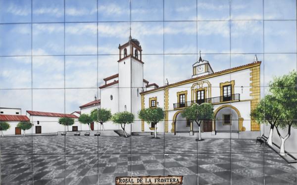 Painted tiles - Rosal de la Frontera ©Michelle Chaplow