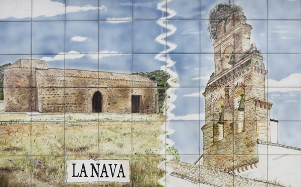 Painted tiles - La Nava ©Michelle Chaplow