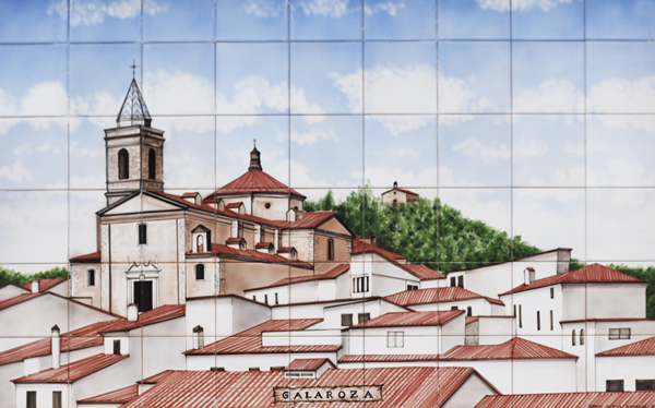 Painted tiles - Galaroza ©Michelle Chaplow
