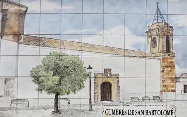 Ceramic Mural - Cumbres de San Bartolome ©Michelle Chaplow