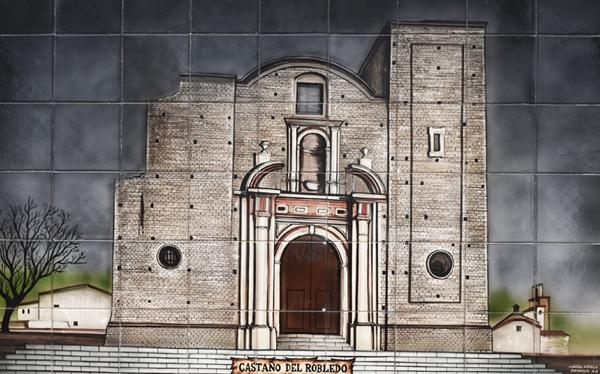 Ceramic Mural - Castaño del Robledo ©Michelle Chaplow