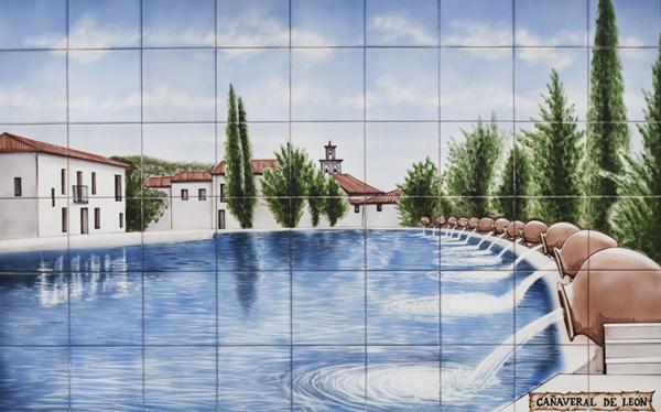Painted tiles - Cañaveral de Leon ©Michelle Chaplow