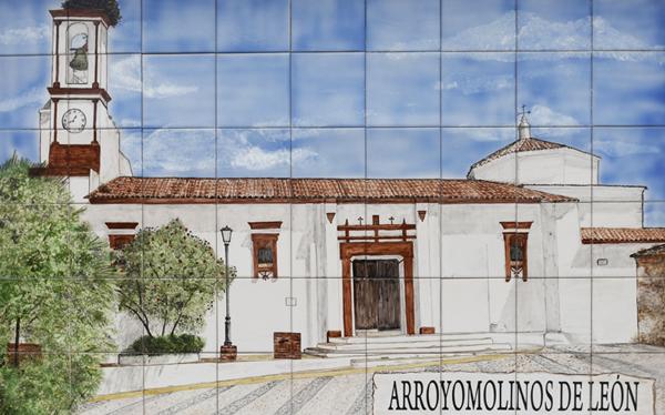 Ceramic Mural - Arroyomolinos de León ©Michelle Chaplow