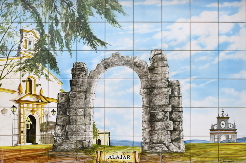 An artist´s impression of Alajar in ceramic tiles ©Barcarotta