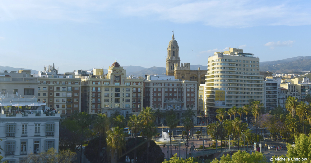 Many new perspectives on Malaga from the big wheel ( Click to enlarge) ©Michelle Chaplow