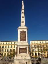 © Michelle Chaplow Obelisk in the centre of Plaza de la Merced