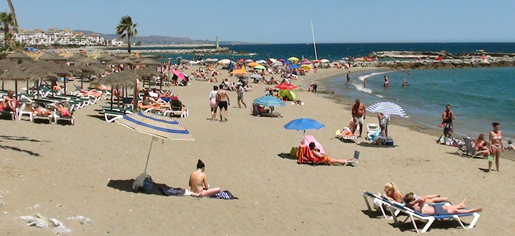 Playa Neuva Andalcia in Summer.