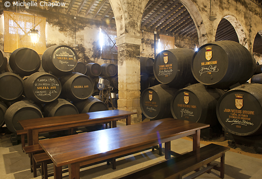 Take a tour of the world famous Osborne Bodegas. © Michelle Chaplow