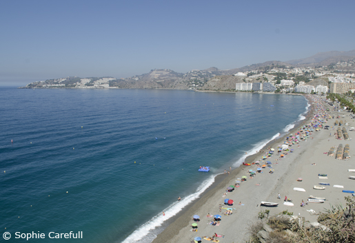Playa de San Cristobal is the longest beach in Almunecar and has great facilites. © Sophie Carefull