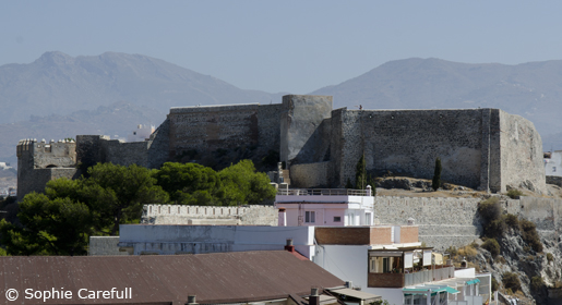 Castillo de San Miguel sits proudly atop the town of Almunecar. © Sophie Carefull