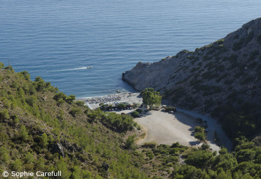 Playa Cantarriján is a secluded cove, catch the minibus from the main road to get down to it. © Sophie Carefull