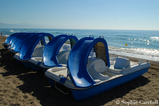 Renting pedalos is just one of many things to do Torremolinos. © Sophie Carefull