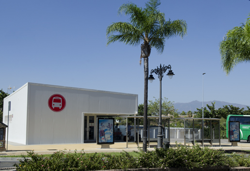 Estepona's new Bus Station officially opened on Monday 21st July 2014 © Sophie Carefull