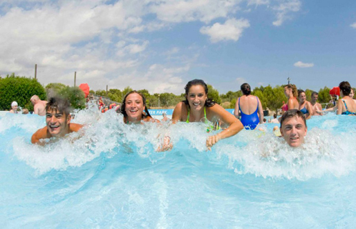 Fun in the sun at Aqualand's Surf Beach. © Aqualand, Bahia de Cadiz