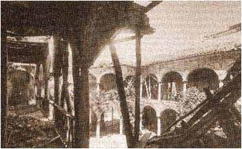 Ruins of the old cloister before restoration in 20th century. © Lawrence Bohme